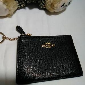 Coach key chain coin wallet